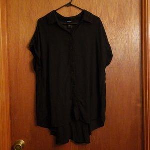 Torrid Sheer High Low Button Up Shirt
